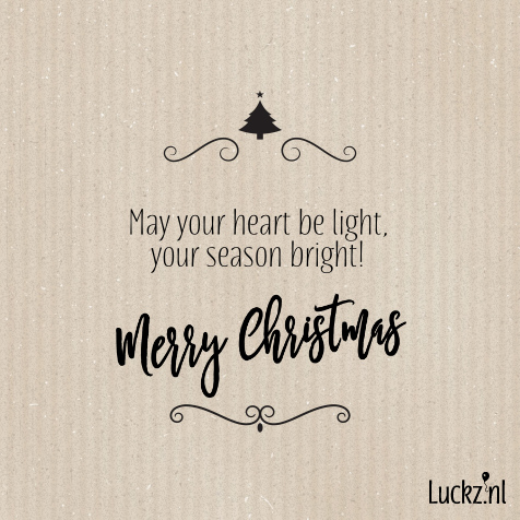 May your heart be light merry christmas