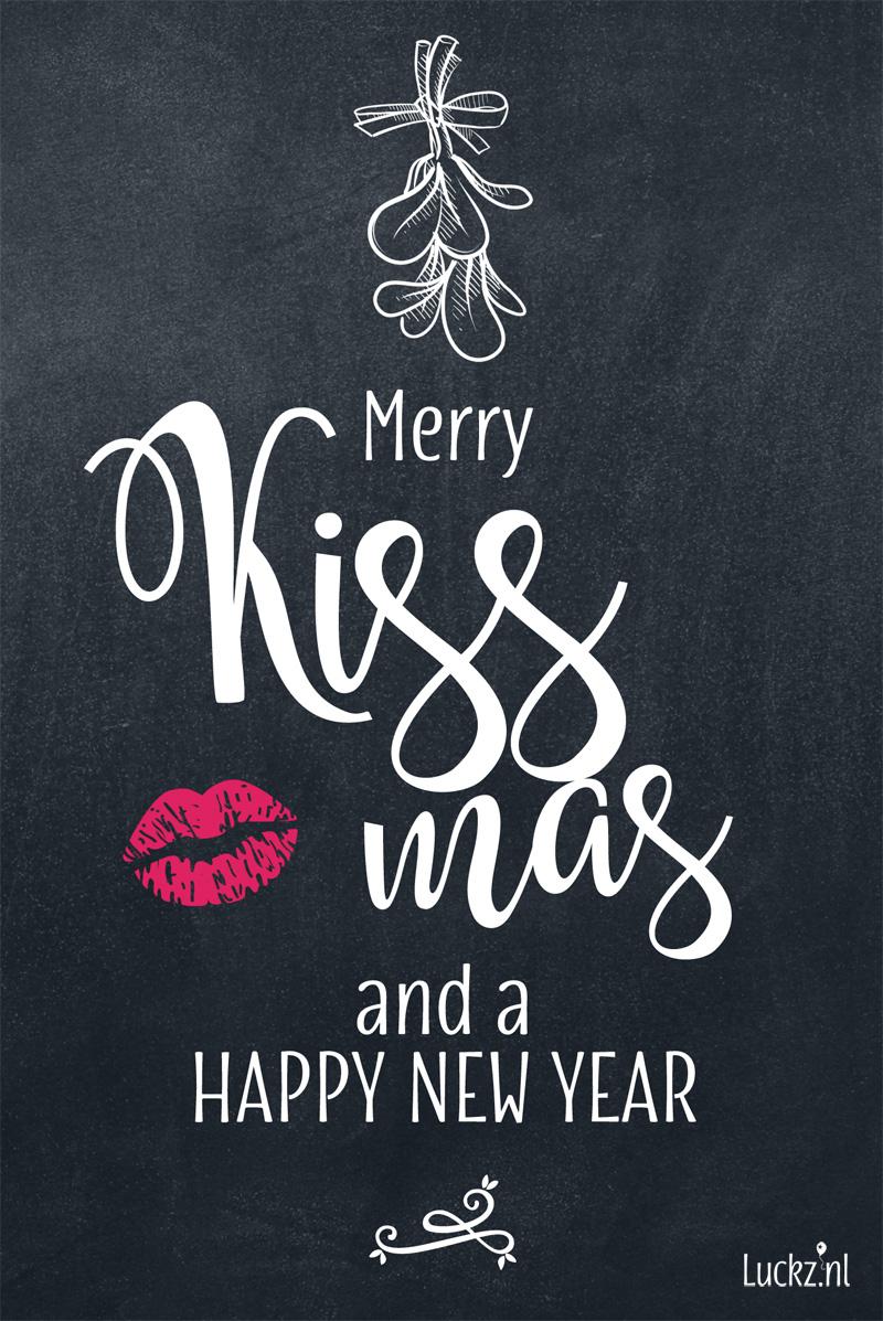 grappige kerst tekst Merry Kissmas