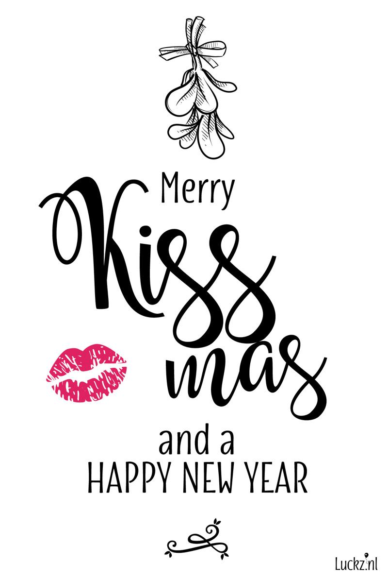 Merry Kissmas grappige originele kerstkaart